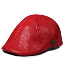 City Hunter Pml1000 Pamoa Faux Leather Duckbill Ivy Cap (red - l/xl size)