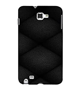 PrintVisa Leather Quilt Pattern 3D Hard Polycarbonate Designer Back Case Cover for Samsung Galaxy Note 1