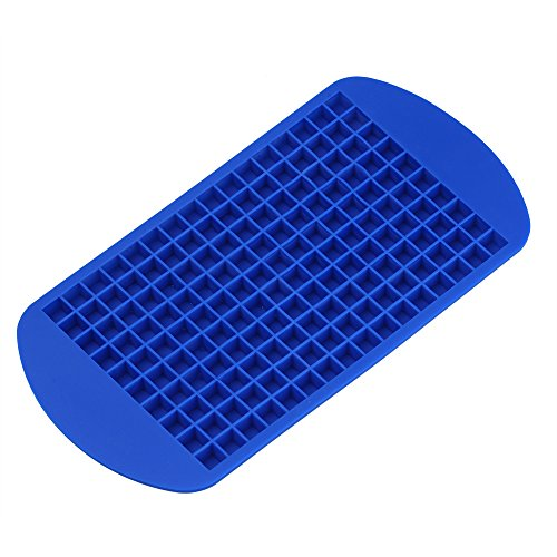 Per 160 Tiny Ice Squares Silicone Ice Cube Maker Ice Cube Molds and Trays Kitchen Tools Kitchen Accessories Kitchen Gadgets for Home Baking(Blue) (Tiny Cube Ice Cube Tray compare prices)