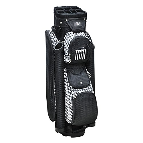 rj-sports-9-inch-womens-boutique-deluxe-ladies-cart-bag-houndstooth