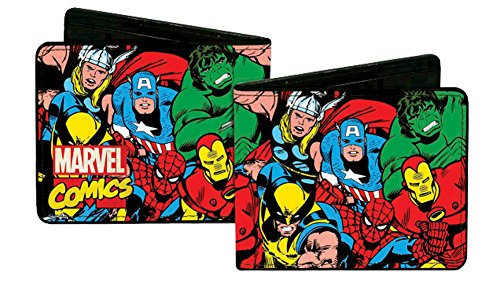 Marvel The Avengers - Marvel Comics Characters w/ Logo - Bi-Fold Wallet