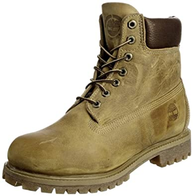 Timberland Men's 6' Premium Full Grain Boot,Wheat,7 M