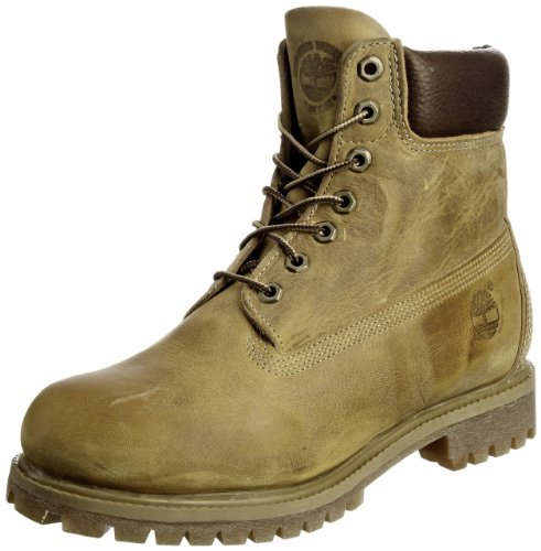 Timberland Af 6 In Annvrsry Org Brown, Stivali, Uomo, Giallo (Wheat Burnished Full Grain), 43