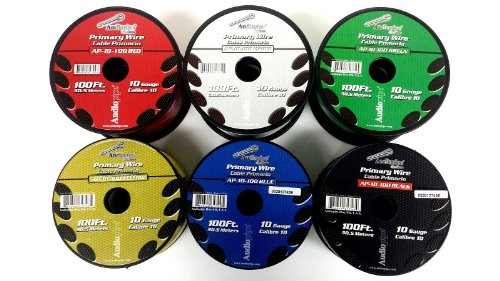 6 Rolls 100 Feet 10 Gauge Awg Audiopipe Primary Remote Wire Auto Power Cable