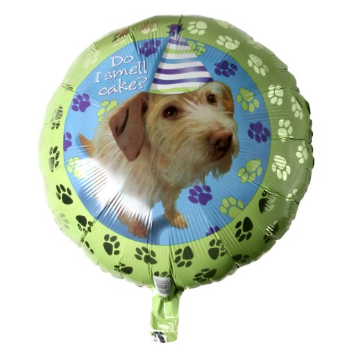 "Anagram International 1181701 Party Pups Birthday Balloon, 18"", Multicolor"