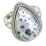 Dendritic Opal, Opal Dendritique Argent Sterling 925 Bague 9.25