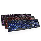 Rii K100 3-LED Colors wired Mechanical feeling Gaming Keyboard