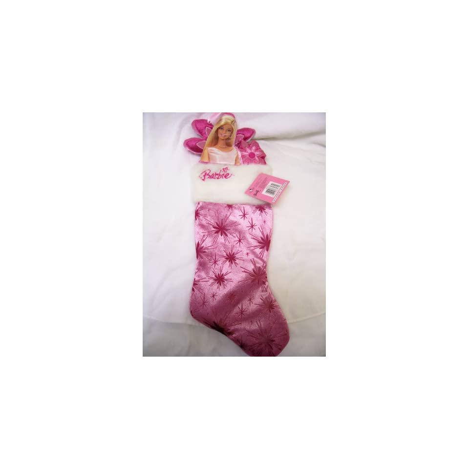 Kurt Adler Barbie Starburst Christmas Stocking