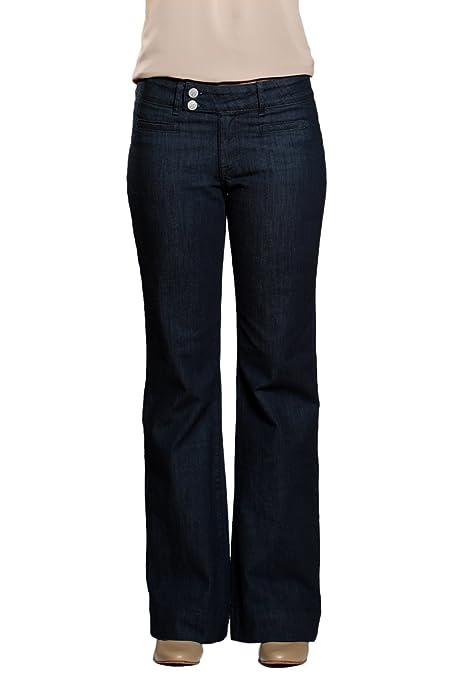 TallWater Jeans Women's Tall Gabby Trouser Jean Dark Indigo