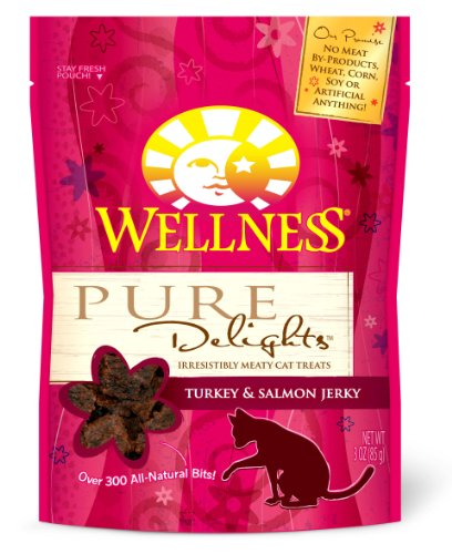 Wellness Treats for Cats, Pure Delights Turkey and Salmon Recipe, 3-Ounce Pouch