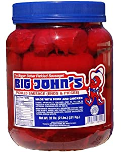 Big John's Pickled Sausage - 1/2 Gallon from Red Smith Foods