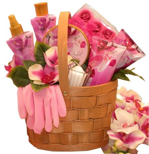 Tickled Pink Spa Set- Bath and Body Gift Basket for Mom