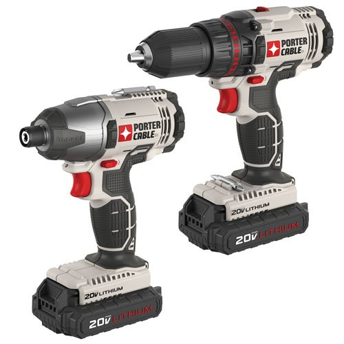 PORTER-CABLE PCCK604L2 20V Max Lithium Ion 2-Tool Combo Kit (Drill Porter Cable compare prices)