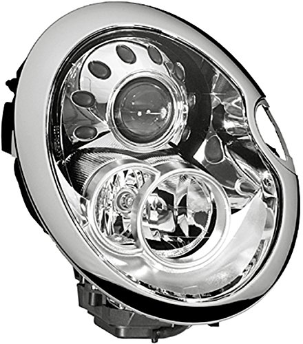 HELLA 010068041 Mini Cooper Passenger Side Headlight Assembly (Mini Cooper Headlight Assembly compare prices)