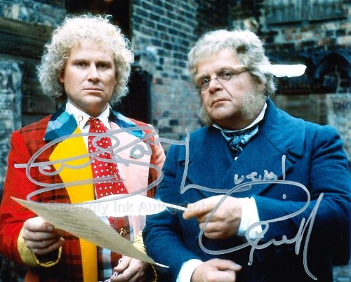 colin-baker-and-geoffrey-hughes-as-the-6th-doctor-and-mr-popplewick-doctor-who-genuine-autographs