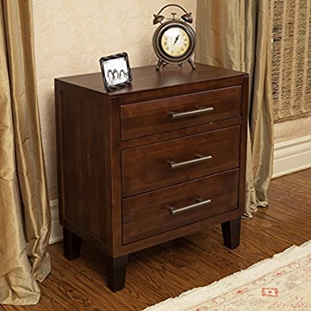 Glendora Brown Mahogany Solid Wood Three Drawer Dresser