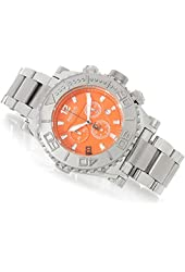 Renato Mens Emporium Chronograph Stainless Steel Orange Dial