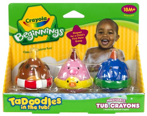Crayola 3ct. TaDoodles Washable Tub Crayons (Dog, Pig, Elephant) - 1