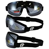 Birdz Eyewear Wing Skydive Skydiving Sports Goggles with Blue Lenses Anti-fog Coated One Piece Lens
