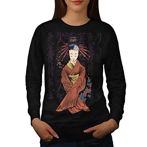 beautiful-east-woman-japan-art-women-new-black-m-sweatshirt-wellcoda