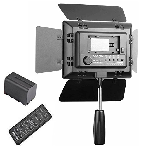 Yongnuo Yn-300 Ii Led Video Light With 1 Battery For Canon 650D 600D 1100D 550D 500D 450D 1000D 400D 350D 300D Camera Slr Dslr Illumination Lamp Camcorder