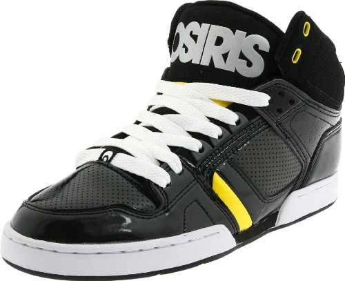 Osiris Shoes Men's NYC83 Black/Chrome/Yellow Trainer 1130-1492 9 UK