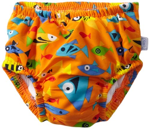 i play. Baby-boys Infant Ultimate Swim Diaper, Orange Fish, 6 Months
