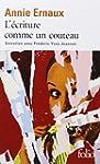 �CRITURE COMME UN COUTEAU (L')