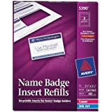 Avery Name Badge Inserts, 2.25 x 3.5 Inches, Box of 400 (05390)