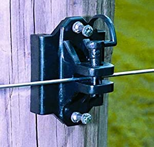 Zareba IWTPLB-Z Wood Post or T-Post Insulator, Black