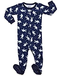 Leveret Baby Boys 2015 Footed Sleeper Pajama 100% Cotton (Size 6M-5 Years) (6-12 Months, Astronaut)
