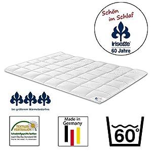 Steppbett Irisette Freiburg Duo, Baumwoll-Satin - 100% Baumwolle, weiß, 135 x 200 cm, 1000 g, 6 x 8 Karo by Irisette