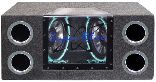 Pyramid Bnps122 12-Inch 1,200-Watt Dual Bandpass System With Neon Accent Lighting