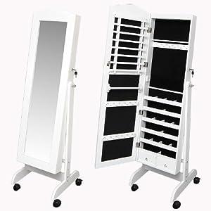 schmink schmuck schrank kommode wei stand spiegel mit. Black Bedroom Furniture Sets. Home Design Ideas