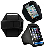 Wayzon Black Adjustable Sports GYM Jogging Running Riding Bike Cycling Armband Case Cover Skin Pouch For HTC HD mini