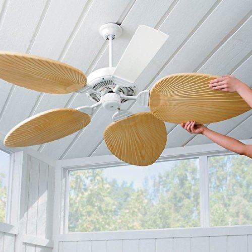 Palm-Leaf Ceiling Fan Blades Ivory