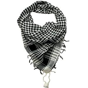 Black and White Desert Scarf  Try these trendy desert scarves  Shemagh  Keffiyeh