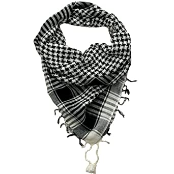 Desert Scarf Black and White Lovarzi - Shemagh Mens and Womens Scarves - Scarfs for Men and Women