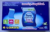 Purex Complete 3 in 1 Spring Oasis Laundry Sheets (One (1) package of 6 sheets)