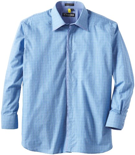 Stacy Adams Men's Big Cardiff Dress Shirt, Blue/Green, 18 - 38/39 (18 38 39 compare prices)