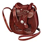Western Express Small Wine Color Leather Saddle Purse Size: 5″x6″ by NYC Leather Factory Outlet