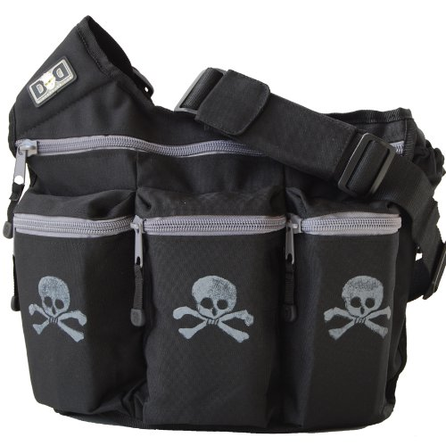 Diaper Dude Diaper Bag, Black Skull and Bones