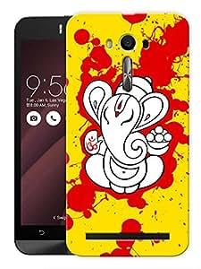 "Humor Gang Ganesha Splatter Art Printed Designer Mobile Back Cover For ""Asus Zenfone Selfie"" (3D, Matte, Premium Quality Snap On Case)"