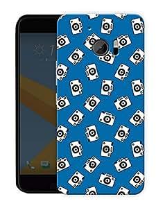 "Humor Gang Camera Life Blue Printed Designer Mobile Back Cover For ""HTC 10"" (3D, Matte, Premium Quality Snap On Case)"