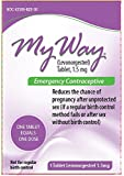 My Way Emergency Contraceptive 1 Tablet *Compare to Plan B One-Step*