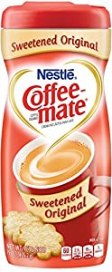 Coffee Mate Sweetened Original Powdered Cream, 15 Ounce (Pack of 6)