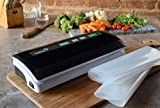 Ivation Vacuum Sealer VSP180, for Moist and Dry Food & Non-Food Items with Starter Kit, Seals up to 12-inch Wide Bags (Black)