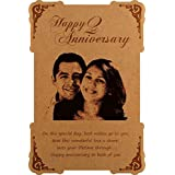 Creative Width Anniversary Gift Engraved Personalized Photo Frame