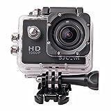 高画質 1080P防水 多機能スポーツカメラ マリンスポーツやウインタースポーツにも最適 バイクや自転車 カートや車に取り付け可能なスポーツカメラ HD動画対応 コンパクトカメラ  DFS-SJ4000WH(ブラック)