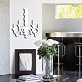 Peel N' Stick Modern Reflective Chandelier Stick on Mirror Wall Decal